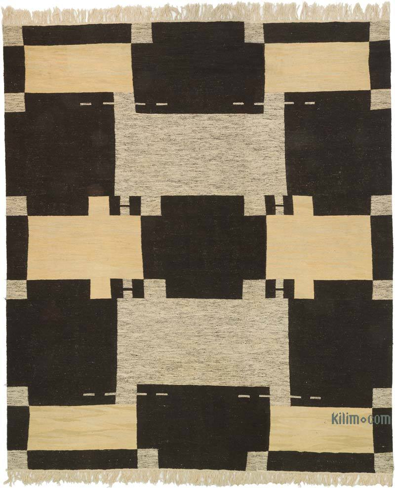 Marrón, Beige Nueva Alfombra Turca Kilim - 430 cm x 503 cm - K0056036