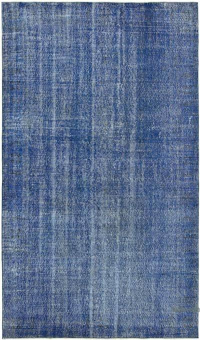 Lacivert Boyalı El Dokuma Vintage Halı - 176 cm x 300 cm