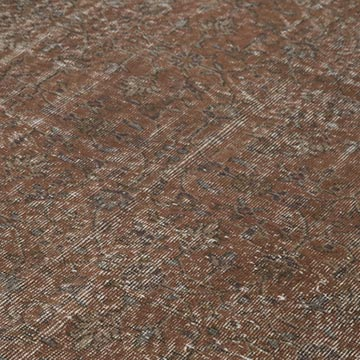 """Brown Over-dyed Vintage Hand-Knotted Turkish Rug - 6' 6"""" x 9' 11"""" (78 in. x 119 in.) - K0056062"""