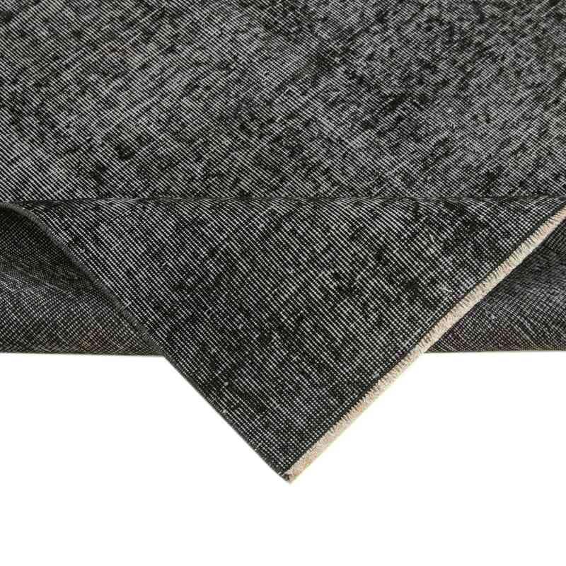Siyah Boyalı El Dokuma Vintage Halı - 157 cm x 251 cm - K0056066