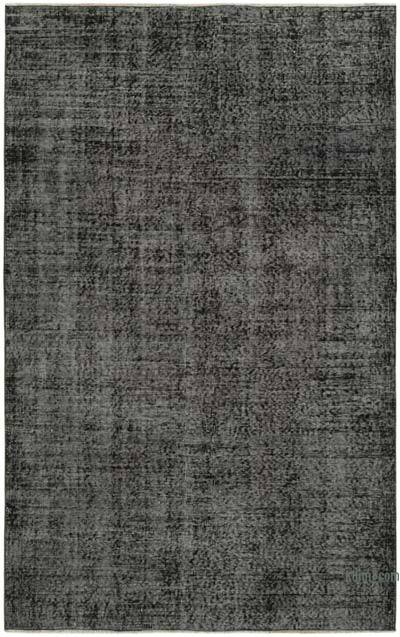 """Black Over-dyed Vintage Hand-Knotted Turkish Rug - 5' 2"""" x 8' 3"""" (62 in. x 99 in.)"""