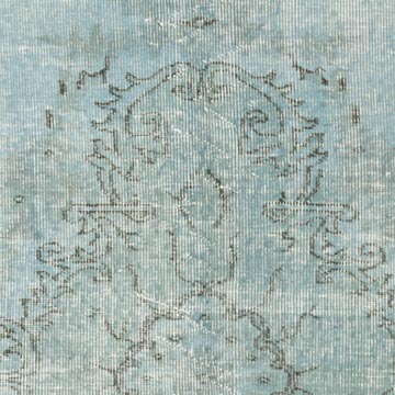 """Blue Over-dyed Vintage Hand-Knotted Turkish Rug - 5' 4"""" x 8' 3"""" (64 in. x 99 in.) - K0056068"""