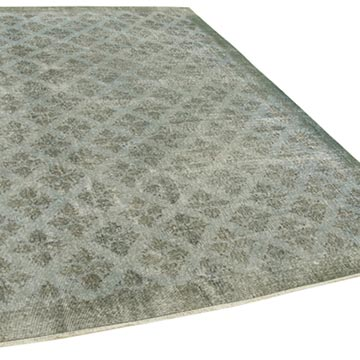 """Blue Over-dyed Vintage Hand-Knotted Turkish Rug - 6' 9"""" x 10' 1"""" (81 in. x 121 in.) - K0056084"""