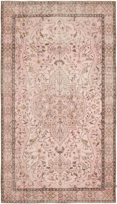 """Pink Over-dyed Vintage Hand-Knotted Turkish Rug - 5' 11"""" x 10' 2"""" (71 in. x 122 in.)"""