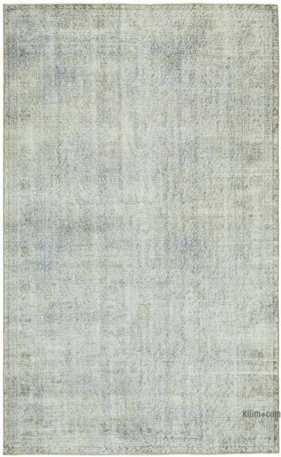 """Blue Over-dyed Vintage Hand-Knotted Turkish Rug - 5' 7"""" x 8' 10"""" (67 in. x 106 in.)"""