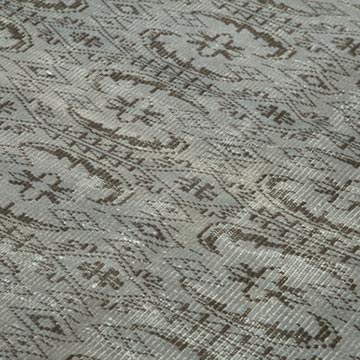 """Grey Over-dyed Vintage Hand-Knotted Turkish Rug - 5' 9"""" x 9'  (69 in. x 108 in.) - K0056111"""
