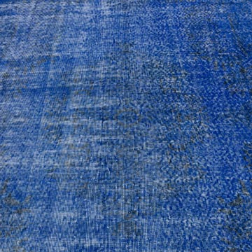 """Blue Over-dyed Vintage Hand-Knotted Turkish Rug - 4' 9"""" x 8'  (57 in. x 96 in.) - K0056113"""