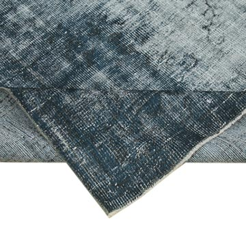 """Blue Over-dyed Vintage Hand-Knotted Turkish Rug - 6'  x 8' 6"""" (72 in. x 102 in.) - K0056115"""