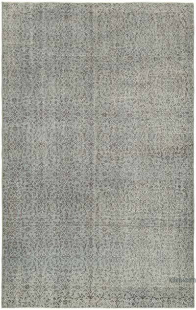 """Grey Over-dyed Vintage Hand-Knotted Turkish Rug - 5' 5"""" x 8' 8"""" (65 in. x 104 in.)"""