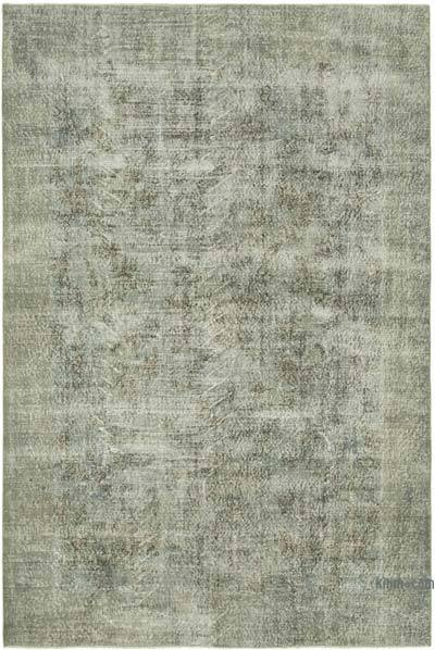 """Grey Over-dyed Vintage Hand-Knotted Turkish Rug - 6' 8"""" x 9' 10"""" (80 in. x 118 in.)"""