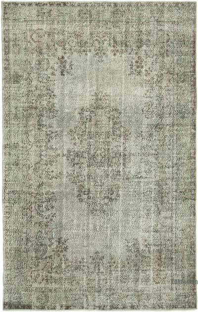 """Grey Over-dyed Vintage Hand-Knotted Turkish Rug - 6' 6"""" x 10' 1"""" (78 in. x 121 in.)"""