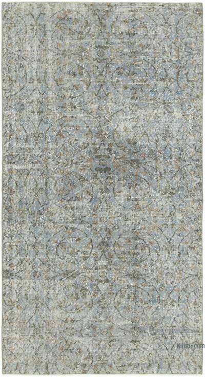 """Grey Over-dyed Vintage Hand-Knotted Turkish Rug - 4' 4"""" x 7' 10"""" (52 in. x 94 in.)"""