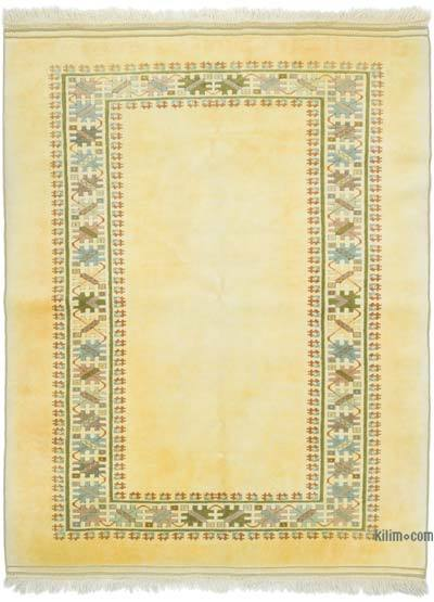 """Vintage Turkish Hand-Knotted Rug - 5' 3"""" x 7'  (63 in. x 84 in.)"""