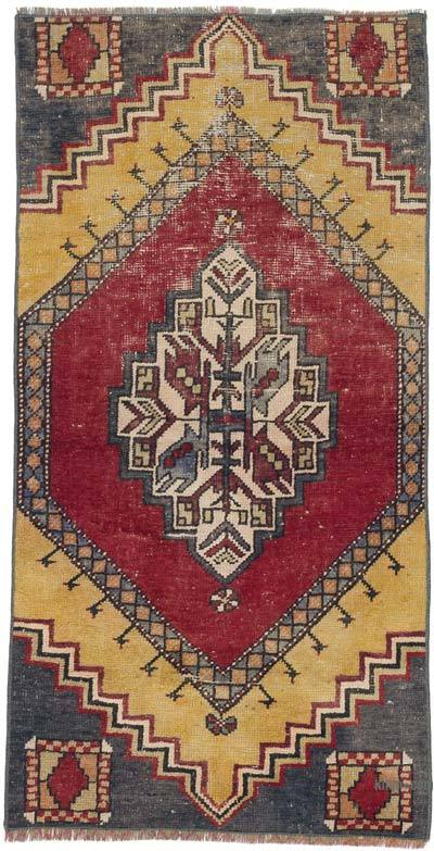 """Vintage Turkish Hand-Knotted Rug - 2' 4"""" x 4' 6"""" (28 in. x 54 in.)"""