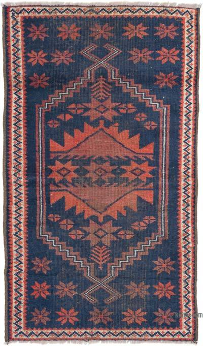 """Vintage Turkish Hand-Knotted Rug - 2' 5"""" x 4' 1"""" (29 in. x 49 in.)"""