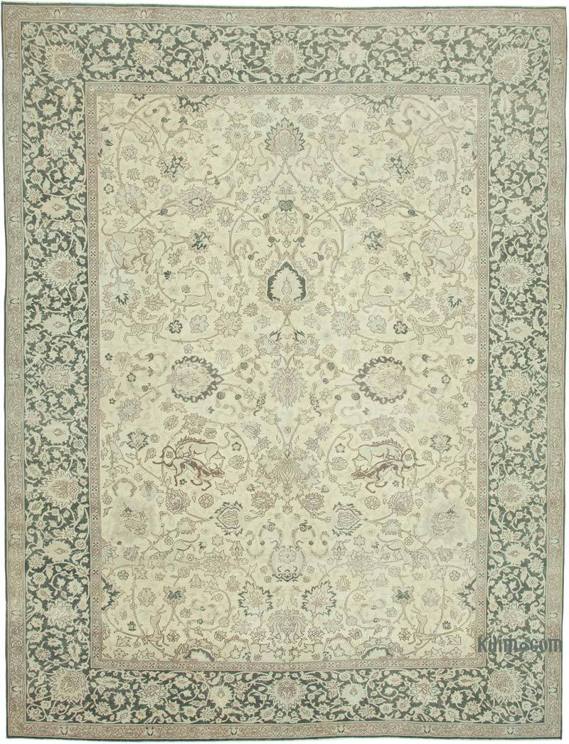 """Vintage Hand-Knotted Oriental Rug - 9' 7"""" x 12' 6"""" (115 in. x 150 in.) - K0056237"""