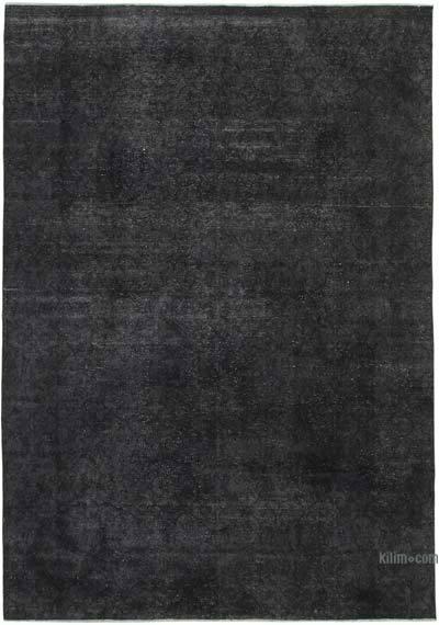Siyah Boyalı El Dokuma Vintage Halı - 273 cm x 387 cm