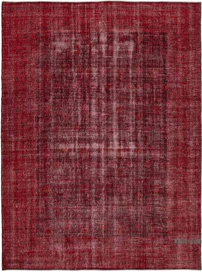"""Red Overdyed Vintage Hand-Knotted Oriental Rug - 9' 9"""" x 13' 2"""" (117 in. x 158 in.)"""