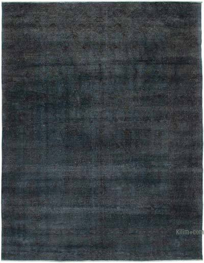 """Grey Overdyed Vintage Hand-Knotted Oriental Rug - 8' 7"""" x 11' 4"""" (103 in. x 136 in.)"""