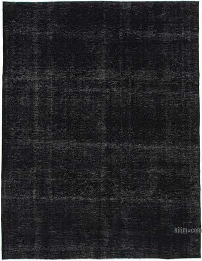 """Black Overdyed Vintage Hand-Knotted Oriental Rug - 9' 10"""" x 13' 1"""" (118 in. x 157 in.)"""