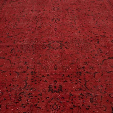 """Red Overdyed Vintage Hand-Knotted Oriental Rug - 9' 10"""" x 13' 1"""" (118 in. x 157 in.) - K0056343"""