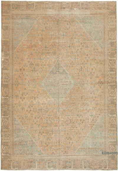 """Vintage Hand-Knotted Oriental Rug - 7' 9"""" x 11' 4"""" (93 in. x 136 in.)"""