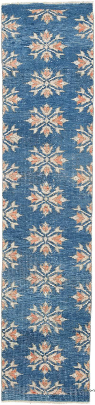 """Vintage Turkish Hand-Knotted Runner - 2'  x 8' 8"""" (24 in. x 104 in.)"""