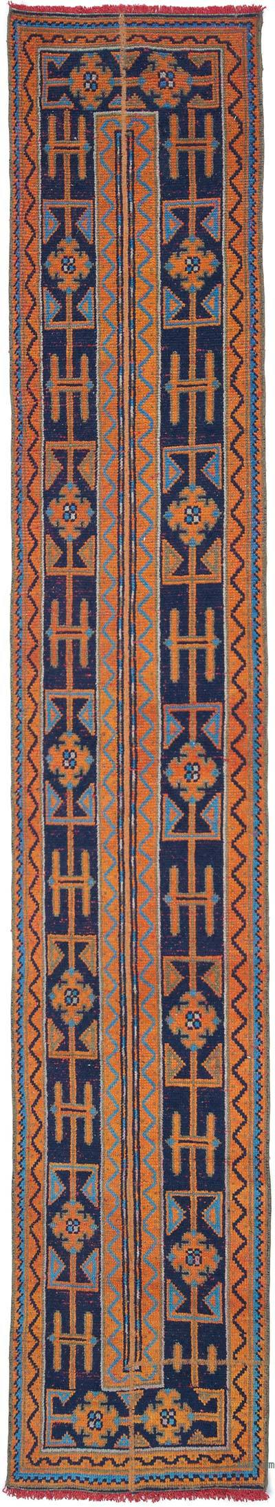 """Vintage Turkish Hand-Knotted Runner - 2' 1"""" x 11' 3"""" (25 in. x 135 in.)"""
