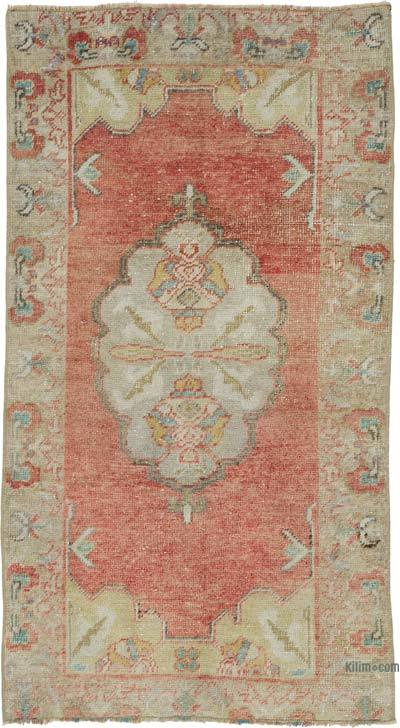 """Vintage Turkish Hand-Knotted Rug - 2' 8"""" x 5'  (32 in. x 60 in.)"""