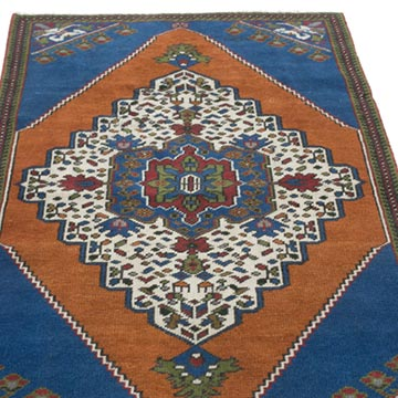 """Vintage Turkish Hand-Knotted Rug - 2' 5"""" x 4' 6"""" (29 in. x 54 in.) - K0056387"""