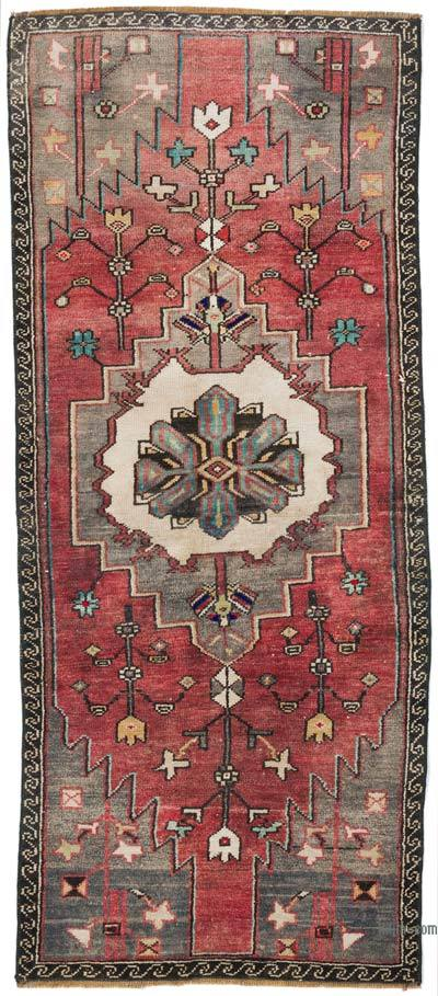 """Vintage Turkish Hand-Knotted Runner - 2' 3"""" x 5' 3"""" (27 in. x 63 in.)"""