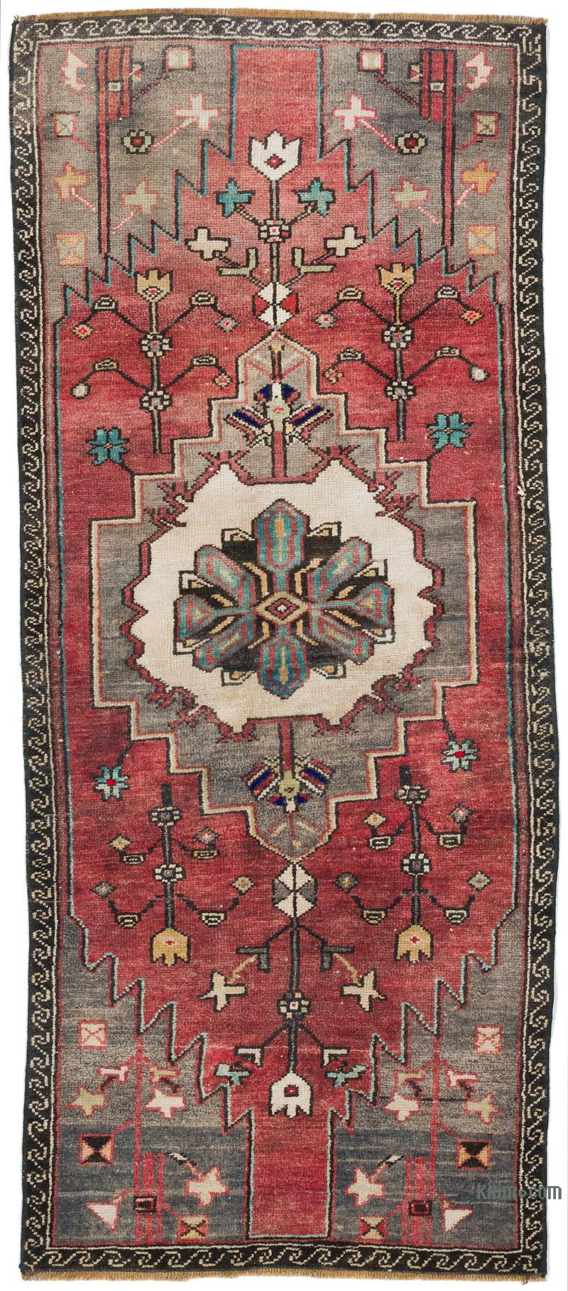 """Vintage Turkish Hand-Knotted Runner - 2' 3"""" x 5' 3"""" (27 in. x 63 in.) - K0056389"""