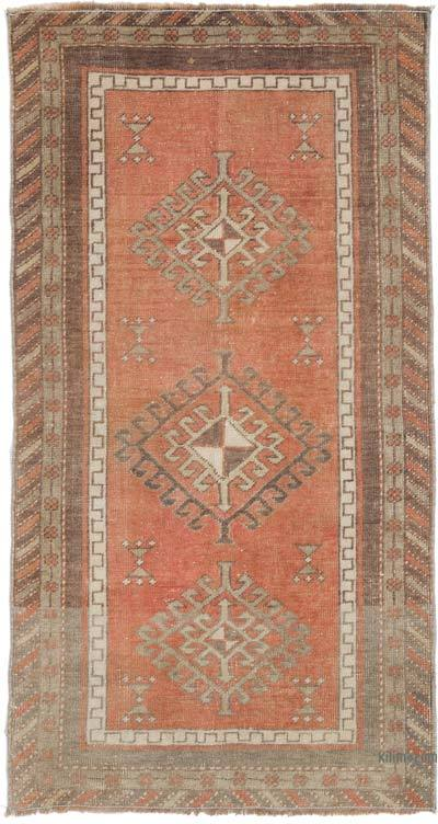 El Dokuma Vintage Halı - 69 cm x 130 cm
