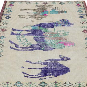 """Vintage Turkish Hand-Knotted Rug - 2' 6"""" x 3' 4"""" (30 in. x 40 in.) - K0056392"""