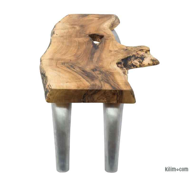 Live Edge Walnut Coffee Table with Cast Aluminium Legs - K0056394