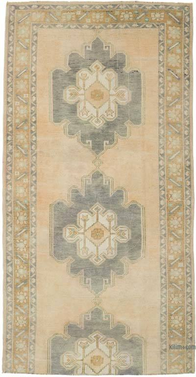 """Vintage Turkish Hand-Knotted Rug - 4' 11"""" x 9' 6"""" (59 in. x 114 in.)"""