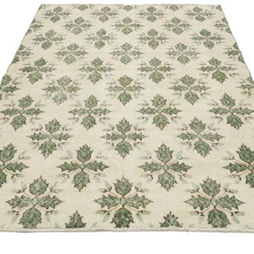 """Vintage Turkish Hand-Knotted Rug - 3' 10"""" x 6' 5"""" (46 in. x 77 in.) - K0056406"""