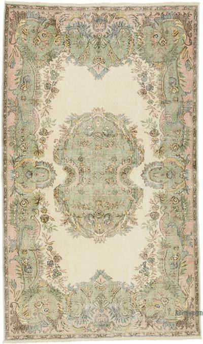 """Vintage Turkish Hand-Knotted Rug - 5' 10"""" x 10'  (70 in. x 120 in.)"""