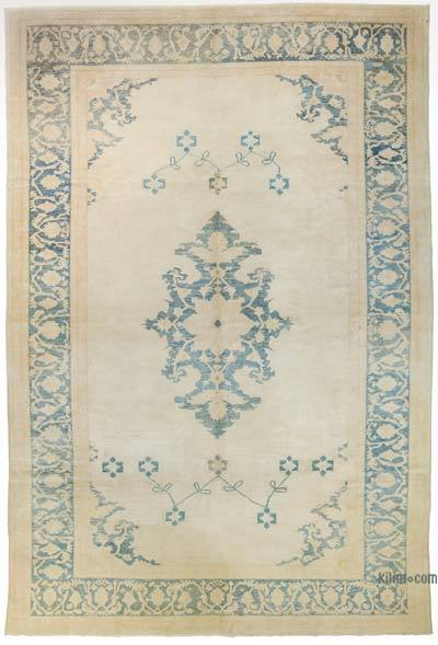 """Vintage Turkish Hand-Knotted Rug - 8' 10"""" x 13' 1"""" (106 in. x 157 in.)"""