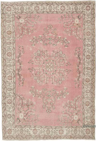"""Vintage Turkish Hand-Knotted Rug - 6' 9"""" x 9' 10"""" (81 in. x 118 in.)"""