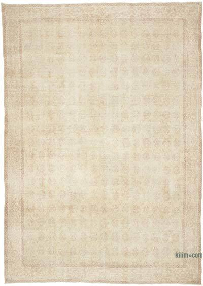 """Vintage Turkish Hand-Knotted Rug - 7' 4"""" x 10' 3"""" (88 in. x 123 in.)"""