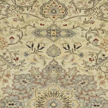 """Vintage Turkish Hand-Knotted Rug - 6' 7"""" x 9' 9"""" (79 in. x 117 in.) - K0056422"""