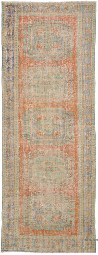 """Vintage Turkish Hand-Knotted Runner - 4' 3"""" x 11' 2"""" (51 in. x 134 in.)"""