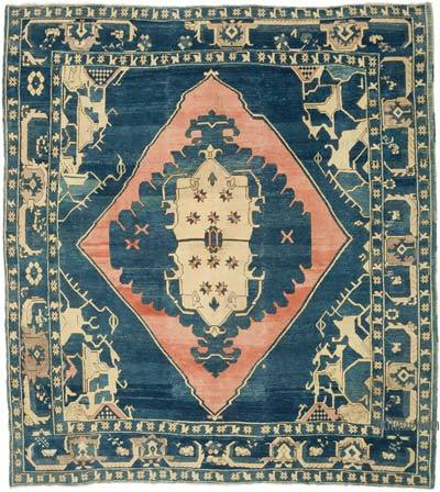 """Vintage Turkish Hand-Knotted Rug - 10' 6"""" x 11' 10"""" (126 in. x 142 in.)"""