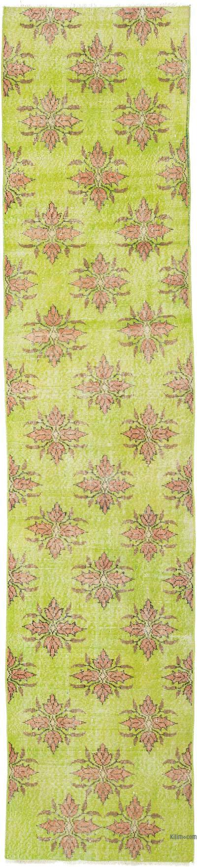"""Vintage Turkish Hand-Knotted Runner - 2' 4"""" x 10' 8"""" (28 in. x 128 in.)"""