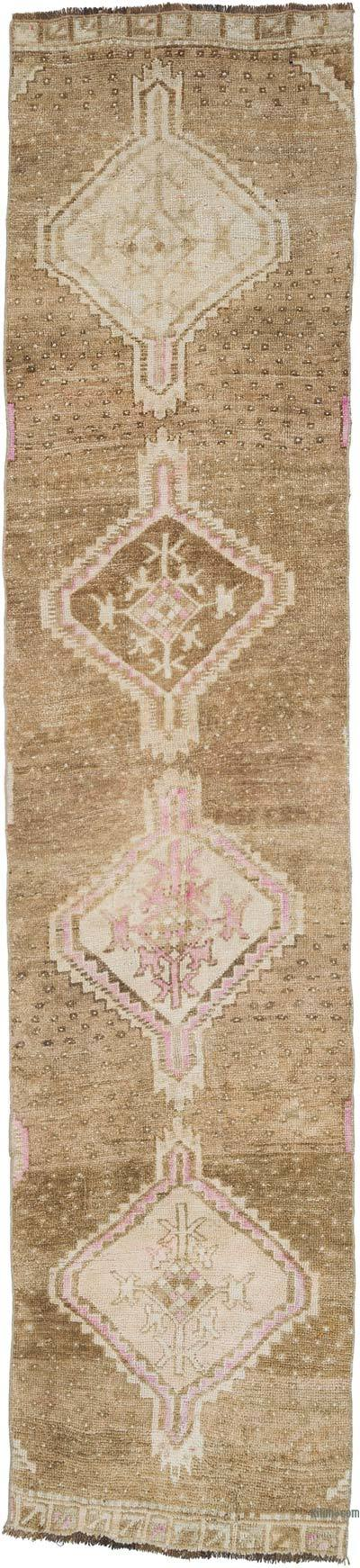 """Vintage Turkish Hand-Knotted Runner - 2' 8"""" x 12' 2"""" (32 in. x 146 in.)"""