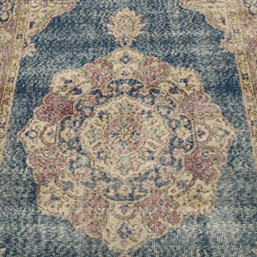 """Vintage Turkish Hand-Knotted Rug - 3' 7"""" x 6' 8"""" (43 in. x 80 in.) - K0056432"""