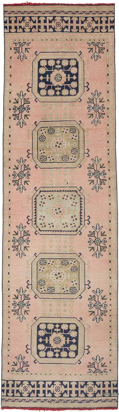 """Vintage Turkish Hand-Knotted Runner - 3' 3"""" x 11' 4"""" (39 in. x 136 in.)"""