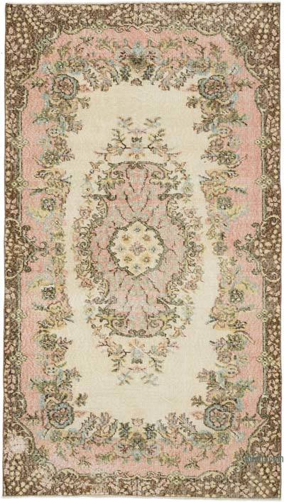 """Vintage Turkish Hand-Knotted Rug - 3' 8"""" x 6' 6"""" (44 in. x 78 in.)"""