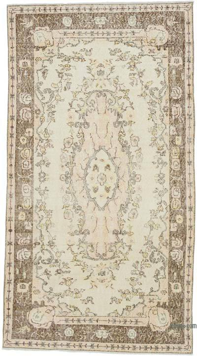 """Vintage Turkish Hand-Knotted Rug - 3' 10"""" x 7'  (46 in. x 84 in.)"""